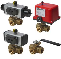 Brass 3-Way Ball Valves