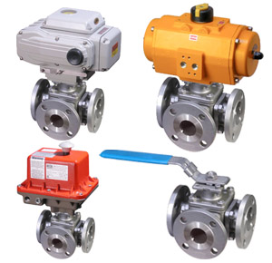 trunnion 3-way flanged ball valves